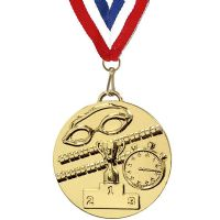 Target50 Swimming Medal with RWB</br>AM1013R.01